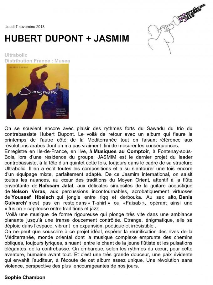 Chronique Jasmim nov 2013 - DNJ