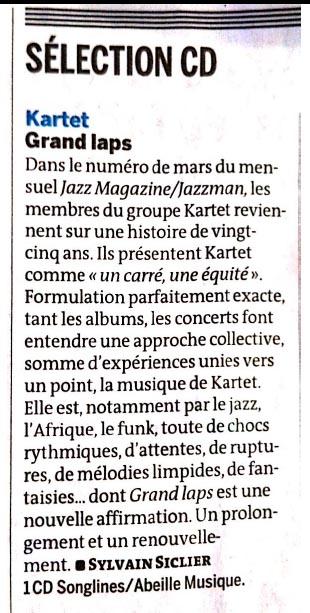 Kartet - Le Monde - Avril 2014