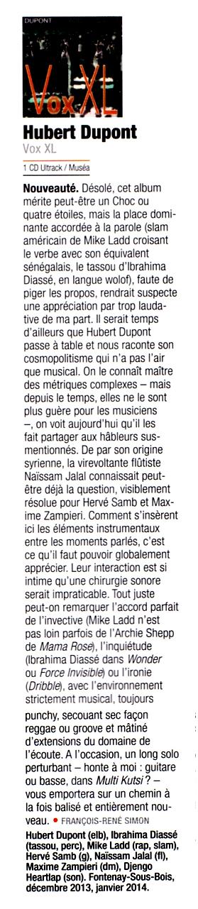 Jazzmag, François René Simon  - février 2015